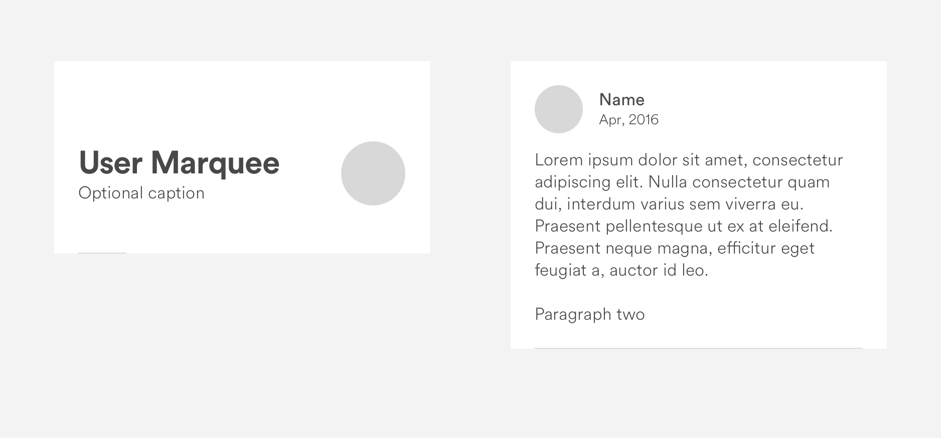 Screenshot of an in-progress UX design for a user profile, illustrating Airbnb's DLS (design language system)