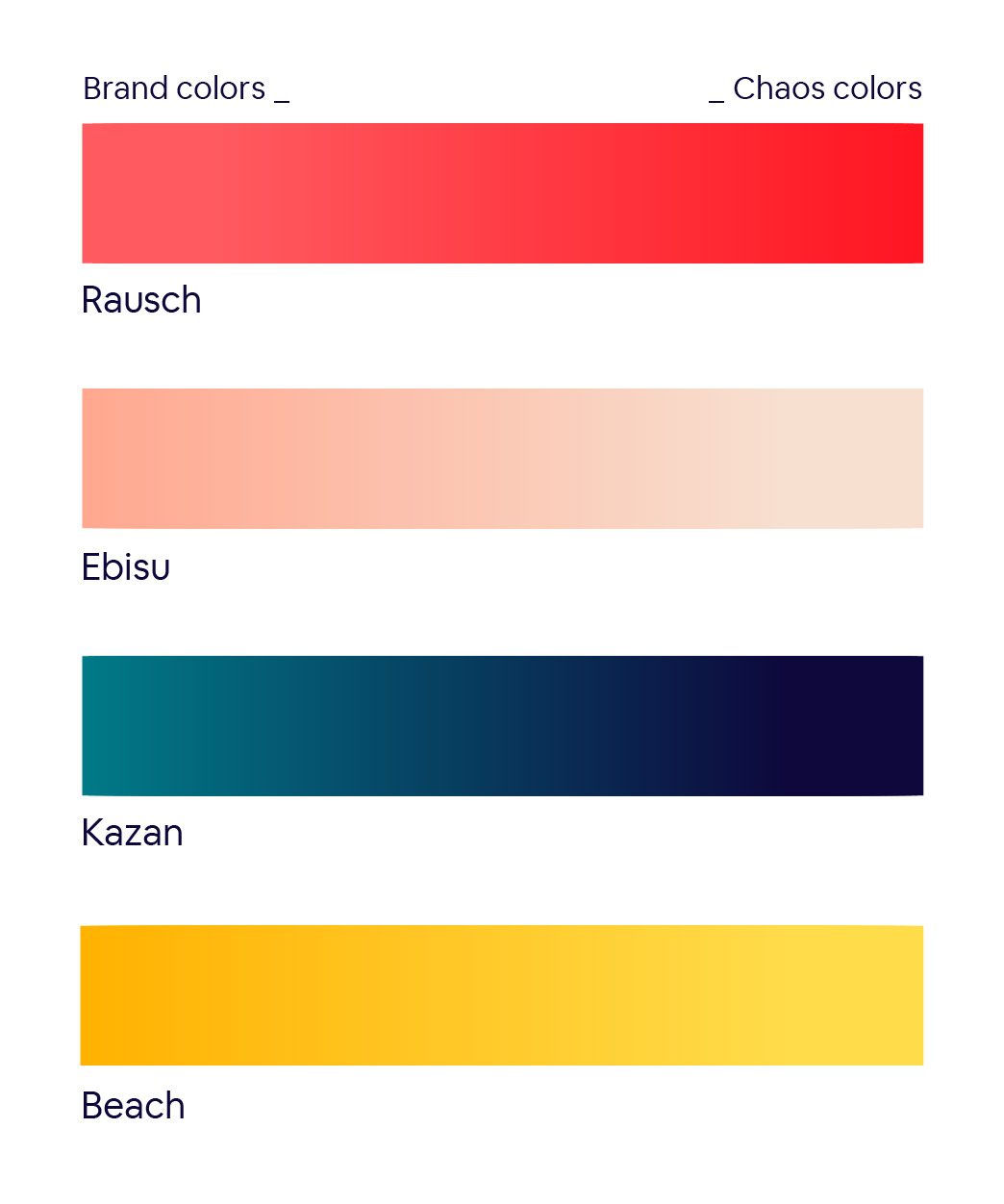 Airbnb color palette